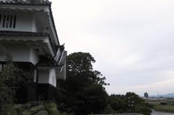吉田城と吉田大橋-min