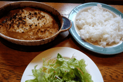 挽肉とマッシュポテトのオーブン焼-min