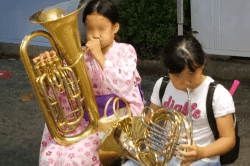 桔梗公園楽器体験190708-min
