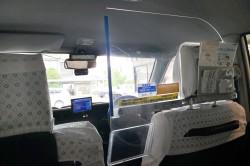 タクシー 社内防犯板