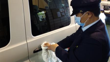 車内消毒(ドアノブ)
